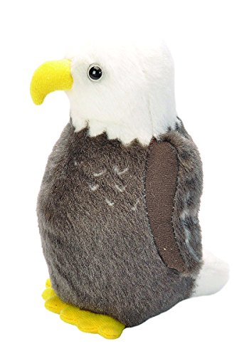 Wild Republic Audubon Birds Bald Eagle Plush with Authentic Bird Sound, Stuffed Animal, Bird Toys for Kids and Birders ()