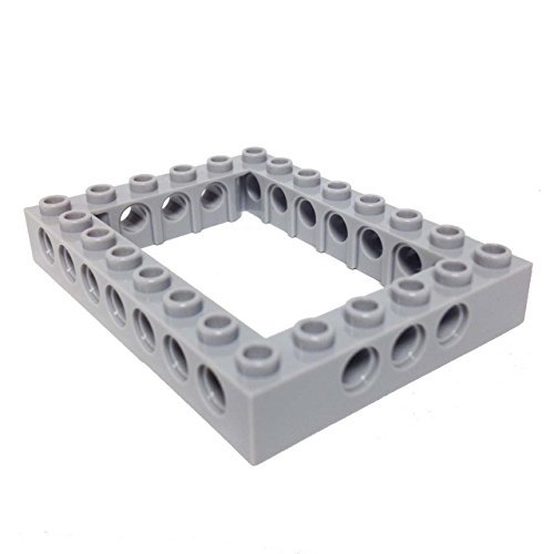 Lego-Parts-Technic-Brick-6-x-8-Open-Center-LBGray