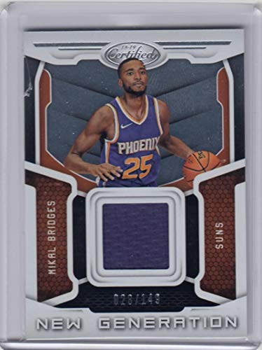 2018-19 Panini Certified #NGJ-MIB Mikal Bridges #NGJ-MIB NM Near Mint MEM 28/149