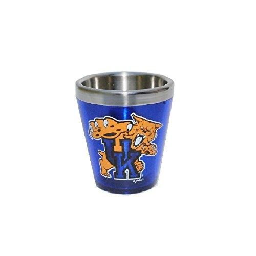 Jenkins Enterprises Kentucky Wildcats Acrylic Shot Glass with Stainless Steel (Glass Wildcats)