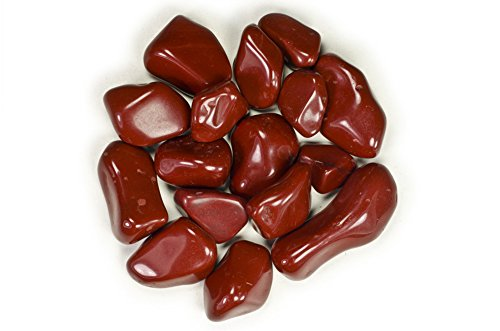 Hypnotic Gems Materials: 1 lb Red Jasper Tumbled Stones AA Grade from Brazil - Bulk Natural Polished Gemstone Supplies for Wicca, Reiki, and Energy Crystal HealingWholesale Lot