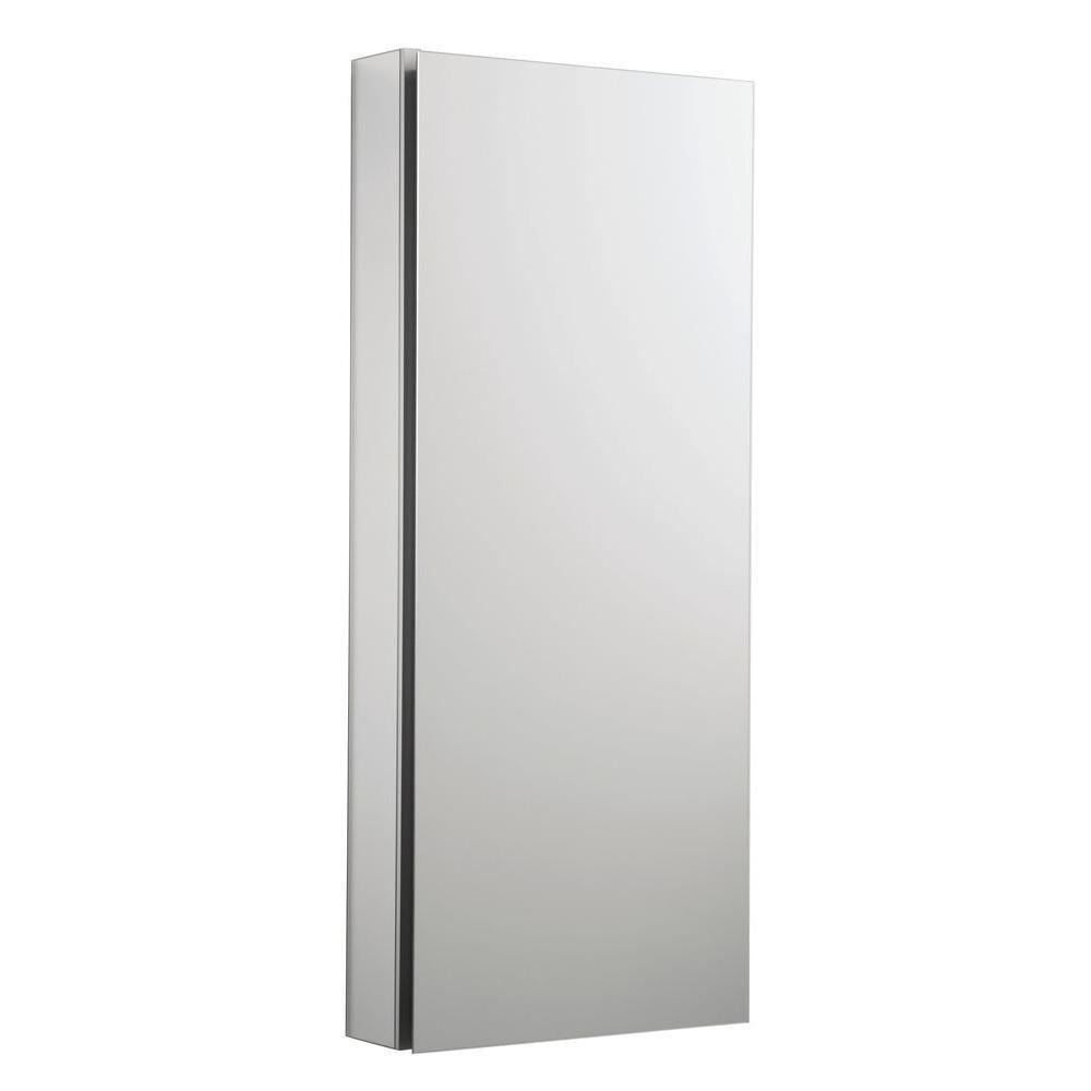 KOHLER K-2913-PG-SAA Catalan Mirrored Cabinet with 107° Hinge, Satin Anodized Aluminum