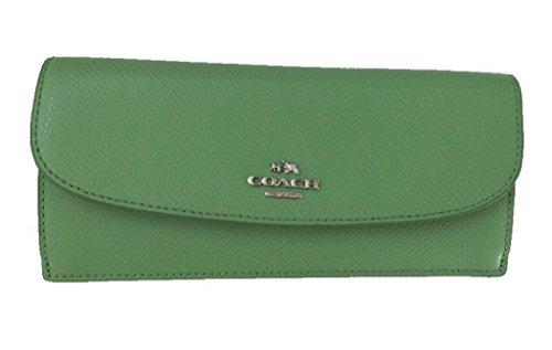 Coach Crossgrain Leather Soft Slim Wallet F52689 Pistachio