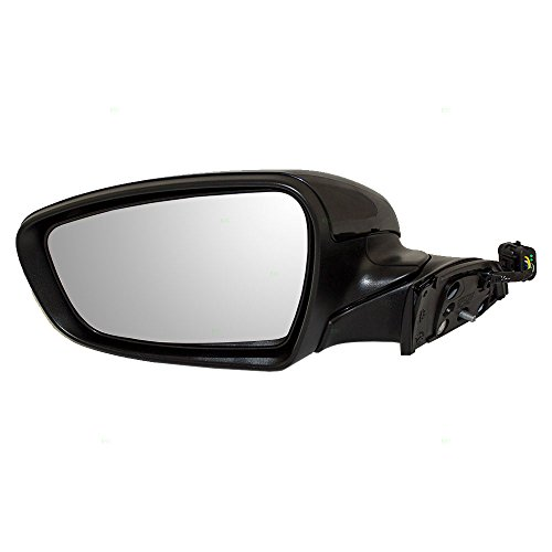 (Drivers Power Side View Mirror Heated Signal Ready-to-Paint Replacement for 14-16 Kia Forte 87610A7210 AutoAndArt)