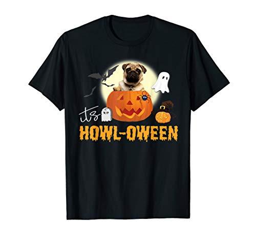 Cute Pug Halloween Dog Pun Happy Howloween Pumpkin