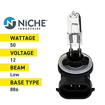 NICHE 886 Headlight Bulb For 2000-2020 Polaris Ace Magnum Sportsman RZR Ranger Widetrak Touring RMK 4010253: Automotive
