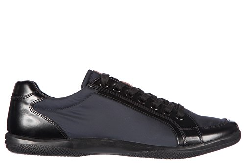 Prada chaussures baskets sneakers homme en Nylon spazzolato blu