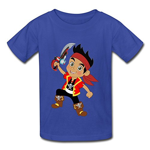 Printing Jake And The Neverland Pirates Youth Boys Girls T-Shirt RoyalBlue Size S ()