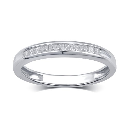 1/4 Cttw Princess Diamond Channel Band in 10K White Gold