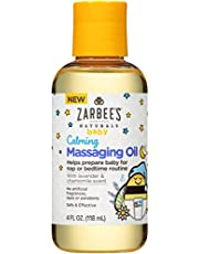 Zarbee's Baby Calming Massaging Oil with Lavender and Chamomile, 4 Ounce