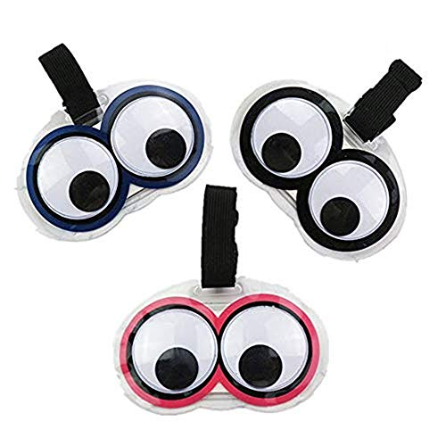 - King&Pig New Cute 3pcs Eyes Luggage Tags Suitcase Luggage Tags Travel Accessories Baggage Name Tags (Multicoloured)