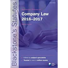 Blackstone's Statutes on Company Law 2016-2017