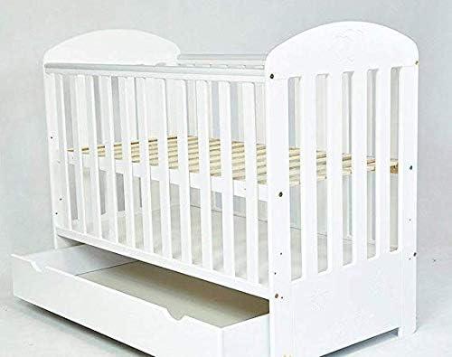 Cuna de beb/é con caj/ón//cama junior SISISI caj/ón de colch/ón de espuma color blanco
