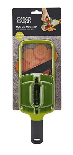 Joseph Joseph Multi Hand-held Mandoline Slicer with Food Grip and Adjustable Blades Dishwasher Safe, One-size, Green