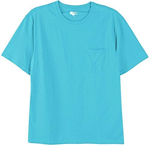 Boca Classics Mens Performance Pocket T-Shirt Large Scuba Blue Blue