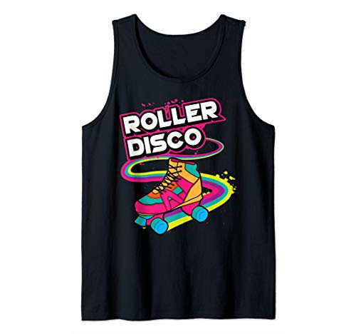 Roller Disco Art | Cute Retro Skaters Funny Design Gift Tank Top