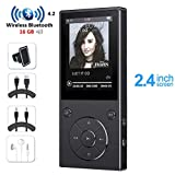 HONGYU 16GB MP3 Player with Bluetooth 2.4 Inch Color Screen,Lossless Metal Bluetooth Music