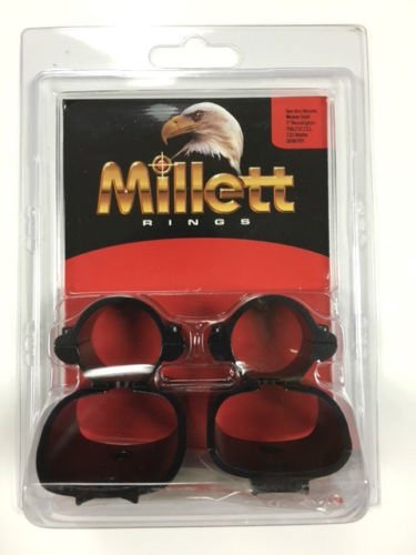 Millett Aluminum 1-Inch See Thru Scope Mount for Remington 700, 721, 722, 725 (Matte)