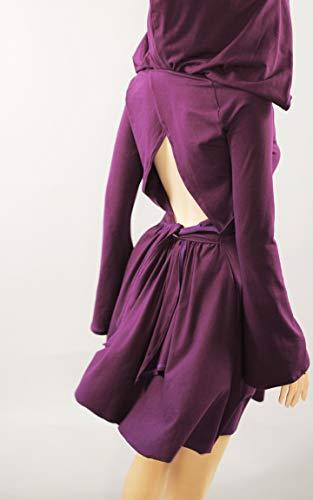 cotton hoodie Dress handmade in US by mirimiri