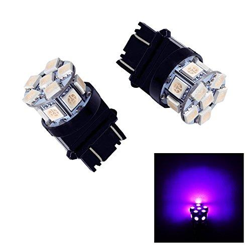 PA 2x13SMD LED 3157 3457A 3156 Auto Stop Light/ Back Light / Side Marker Light / Tail Light / Turn Signal Light Bulbs 12V (Purple)