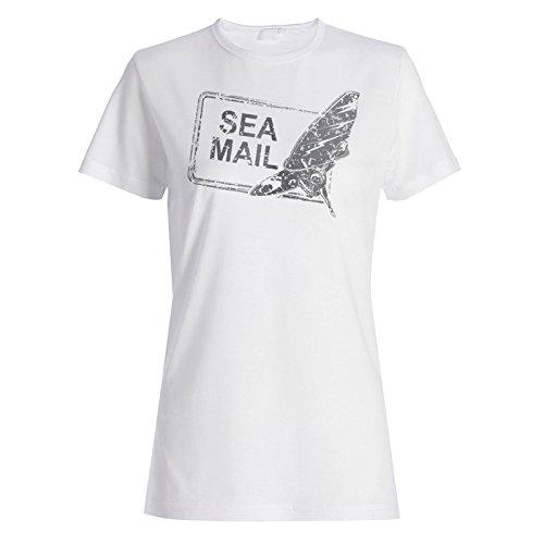 Surfen meer surfer briefmarke weinlese Damen T-shirt f445f