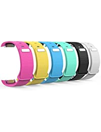 MoKo Watch Band for Gear Fit2, [6-PACK] Soft Silicone Replacement Sport Band for Samsung Gear Fit 2 SM-R360 Smart Watch, Multi Colors (NOT FIT Gear S2 SM-R720 / SM-R730 & S2 Classic SM-R732 / R735)