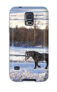 Defender Case For Galaxy S5, Winter Wonderlands Kids Jackets Dresses Shoes Vacations Season Coats Fall Flowers S Nature Winter Pattern