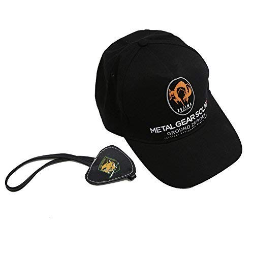 (New Cool MGS5 Snake Eyepatch and Hat for Hot Game Cosplay)