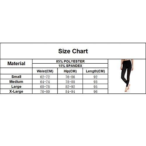 KIWI RATA Women Sports Mesh Trousers Athletic Gym Workout Fitness Waist Capris Yoga Pants Running Leggings, Black, Small