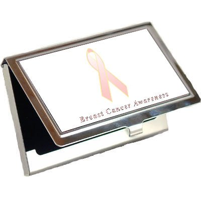 Breast Cancer Awareness Ribbon Business Card Holder