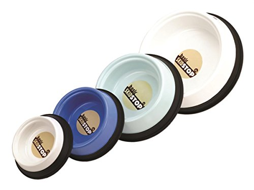 JW Pet Company Skid Stop Basic Pet Bowl, Medium, Colors Vary