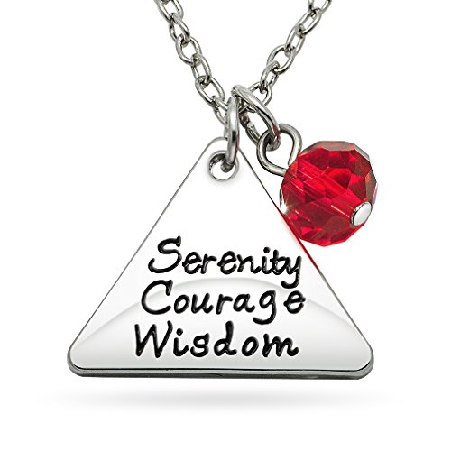 Price comparison product image Katie's Style Sentimental Necklace Trinity Religious Serenity Courage Wisdom Red Crystal Bead Fashion Pendant