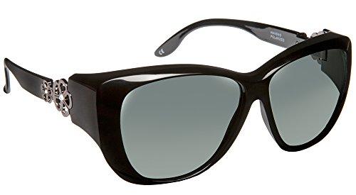 Haven Fitover Sunglasses Manhattan in Black & Polarized Grey - Haven Glasses