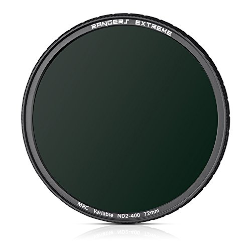 Price comparison product image Rangers 72mm Variable ND2 - ND400 MRC filter - 5.6mm Ultra-thin,  20-layers Multi Coating,  Scratch Resistant,  Oilproof,  Water Repellent,  Constructed of German Schott Optical Glass