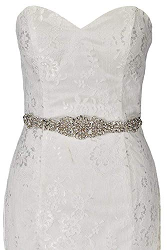 - Sisjuly Rhinestone Crystal Sash Wedding Belt For Prom Party Evening Dresses