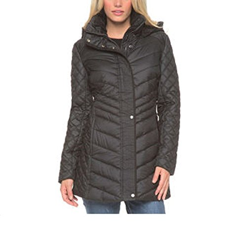 Marc New York Andrew Marc Quilted Walker Hooded Women's Jacket Coat Black - Jacket New Quilted Black York Marc