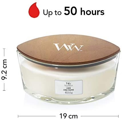 WoodWick Ellipse Scented Candle with Crackling Wick Up to 50 Hours Burn Time At the Beach