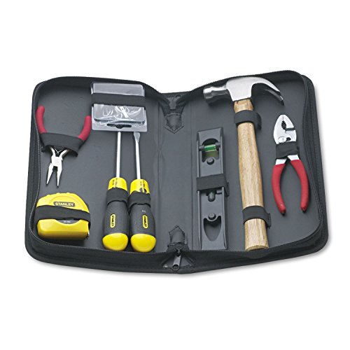 Stanley 92680 General Repair 8 Piece Tool Kit in Water-Resistant Black Zippered Case