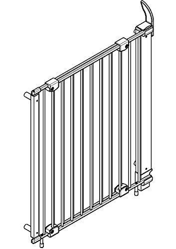 verstellbar Befestigung mit Schrauben//Klemmen am Gel/änder Geuther 61-107 cm Treppenschutzgitter Purelock aus Metall f/ür Kinder//Hunde