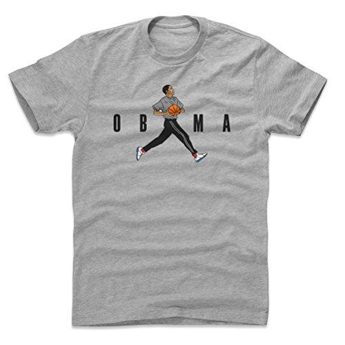 Bald Eagle Shirts Barack Obama Cotton Shirt - Obama Basketball WHT (Heather Gray, XXX-Large)
