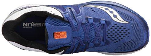 Saucony Hurricane Iso 3 Scarpe Da Corsa - SS17, BLUE/WHITE/SILVER, 48