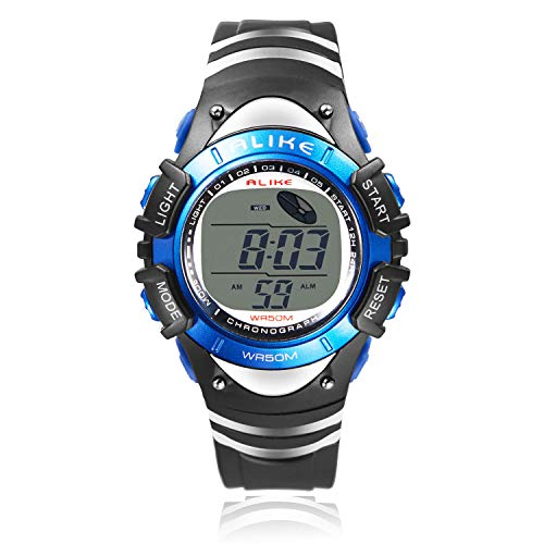 Boys Digital Sport Watch, Kids LED Electronic Waterproof Outdoor Watches Boy Girls Running Cool Fashion Watch with Alarm Stopwatch