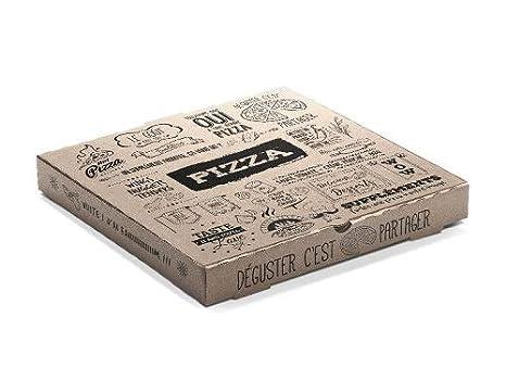 Al-Taiba - Caja para pizza (40 cm, 50 unidades), color marrón: Amazon.es: Industria, empresas y ciencia