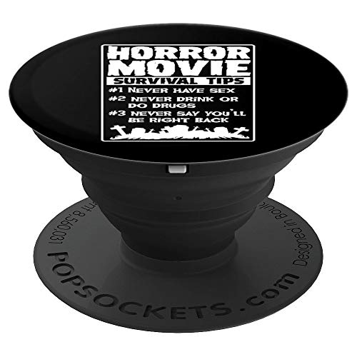 Horror Movie Survival Tips Scary Funny Halloween Party Gift - PopSockets Grip and Stand for Phones and -