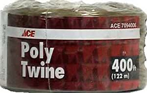 "Wellington 05041–""Ace"" Poly Twine Cuerda 400'marrón"
