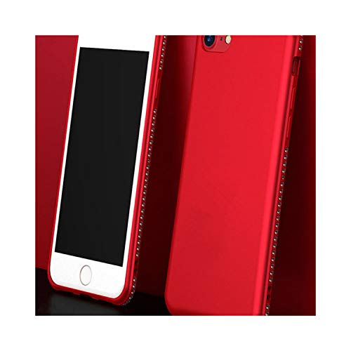Luxury Bling Diamond Magnetic Finger Ring Kickstand Case for iPhone X 8 7 6 Plus Samsung Galaxy S9 S8 Plus Note 8 Soft TPU Cover,Style 1 Red,for iPhone 7 Plus