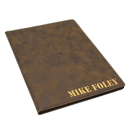 Custom Personalized Business Portfolio with Engraved Journal Notepad