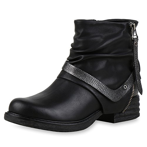 Japado - botas estilo motero Mujer negro