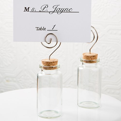 Perfectly Plain Glass Jar With Place Card Holder , 144 by FavorOnline