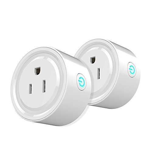 WiFi Smart Plug Mini Outlet,2 Packs Wi-Fi Enabled Mini Outlets Smart Socket, No Hub Required,Compatible with Alexa Google Home Remote Control by Rcosy
